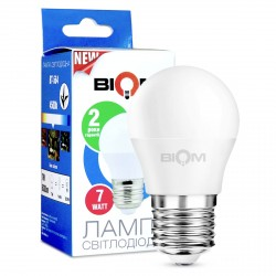 Светодиодная лампа Biom BT-564 G45 6W E27 4500К матовая