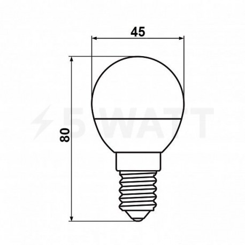 Светодиодная лампа Biom BT-565 G45 6W E14 3000К матовая - в Украине