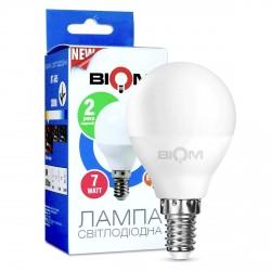 Світлодіодна лампа Biom BT-565 G45 6W E14 3000К матова