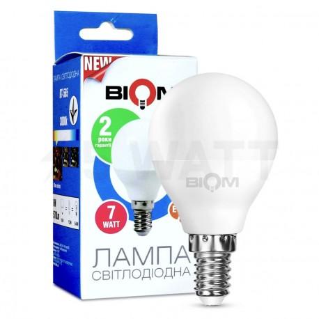Светодиодная лампа Biom BT-565 G45 6W E14 3000К матовая - купить