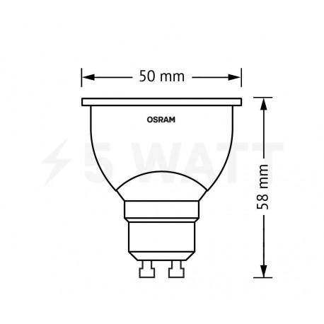 LED лампа OSRAM LED Super Star GU10 5,3W 2700K DIM 220-240V(4008321882714) - недорого