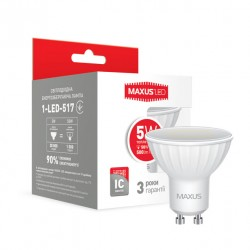 LED лампа MAXUS 5W 3000К MR16 GU10 220V (1-LED-517)