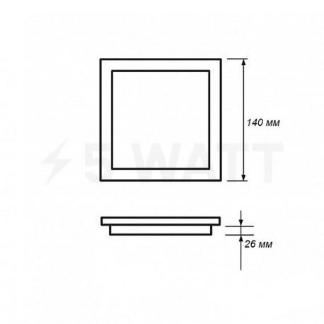 Світильник світлодіодний PHILIPS Slimlit 59514 LED 12W 4000K White вбудований квад. (915005187301) - в інтернет-магазині