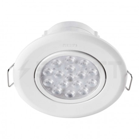 Светильник светодиодный PHILIPS 47041 LED 5W 4000K White встраиваемый круглый (915005089301) - магазин светодиодной LED продукции