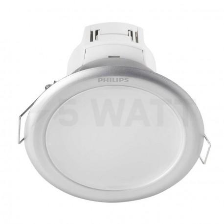 Светильник светодиодный PHILIPS 66022 LED 6.5W 4000K Silver встраиваемый круглый (915005136401)