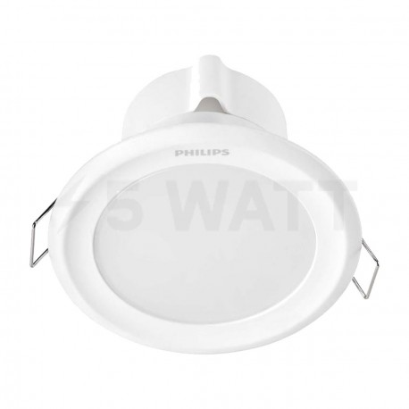 Светильник светодиодный PHILIPS 44081 LED 5W 2700K White встраиваемый круглый (915005093301)