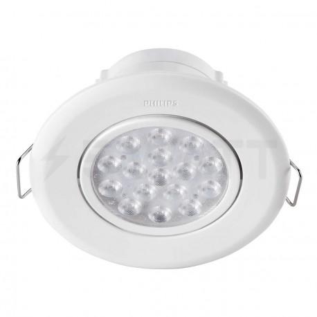 Светильник светодиодный PHILIPS 47040 LED 5W 2700K White встраиваемый круглый (915005088901)