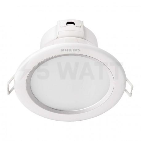 Светильник светодиодный PHILIPS 80083 LED 8W 4000K Aluminum встраиваемый круглый (915004893301)