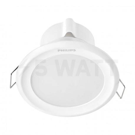 Светильник светодиодный PHILIPS 44083 LED 9W 4000K White встраиваемый круглый (915005094001)