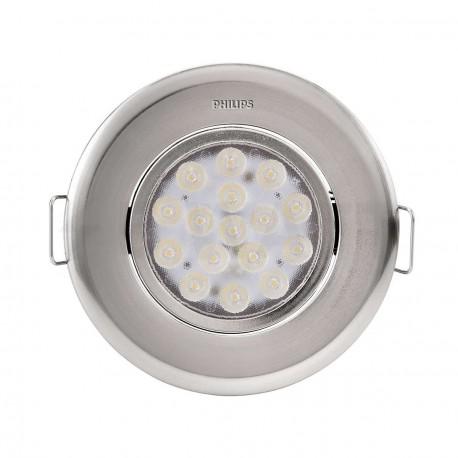Светильник светодиодный PHILIPS 47041 LED 5W 4000K Nickel встраиваемый круглый (915005089401) - недорого