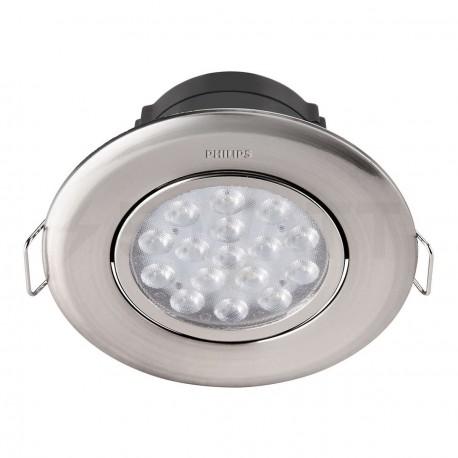 Светильник светодиодный PHILIPS 47041 LED 5W 4000K Nickel встраиваемый круглый (915005089401) - купить