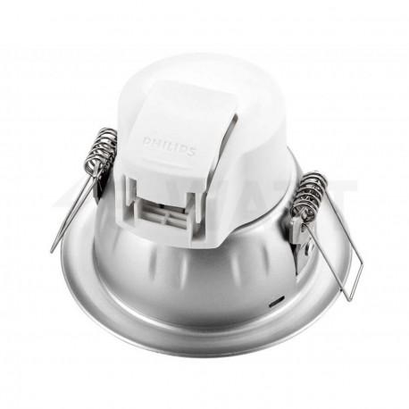 Світильник світлодіодний PHILIPS 66020 LED 3.5W 4000K Silver вбудований круглий (915005136201) - недорого