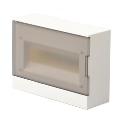 Шкаф ABB BASIC E прозрачный накладной 12 модулей, с клемами