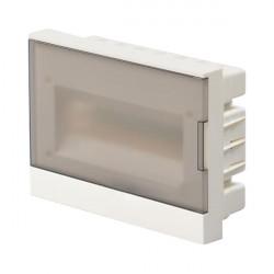 Шкаф ABB BASIC E прозрачный встраеваемый 12 модулей, с клемами
