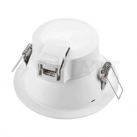 Светильник светодиодный PHILIPS 66022 LED 6.5W 4000K White встраиваемый круглый (915005092401) - недорого