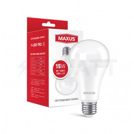 LED лампа MAXUS A70 15W 4100K 220V E27 (1-LED-782) - купить