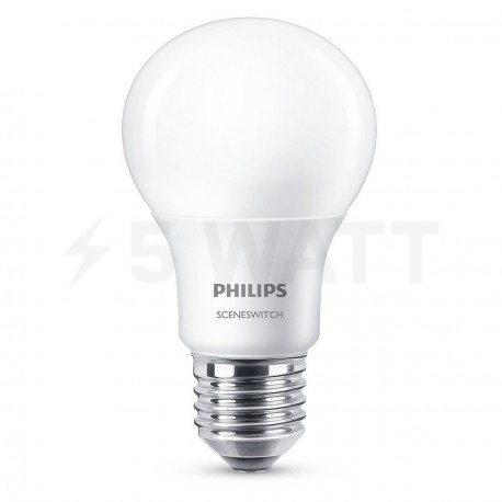 LED лампа PHILIPS Scene Switch LED A60 9-70W E27 3000K (929001208707) - купить