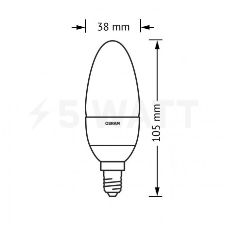 LED лампа OSRAM LED Super Star Classic B40 5,4W E14 4000K CL 220-240V DIM (4052899279599) - в Україні