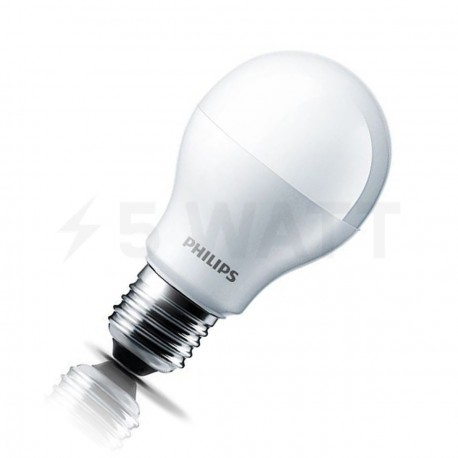 Набор LED ламп PHILIPS LEDBulb A55 7,5-60W E27 3000K 230V (8711500817648) - придбати