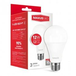 LED лампа MAXUS A65 12W 3000К 220V E27 (1-LED-563-01)