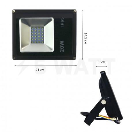 Світлодіодний прожектор BIOM 20W S2-SMD-20-Slim 6500К 220V IP65 - в Україні