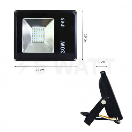 Світлодіодний прожектор BIOM 30W S2-SMD-30-Slim 6500К 220V IP65 - в Україні