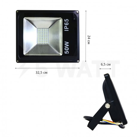 Світлодіодний прожектор BIOM 50W S2-SMD-50-Slim 6500К 220V IP65 - в Україні