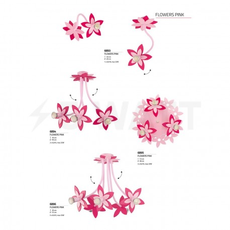 Бра NOWODVORSKI Flowers Pink 6893 - в Украине
