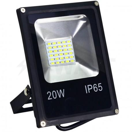 Світлодіодний прожектор BIOM 20W SMD-20-Slim 6500К 220V IP65 - придбати