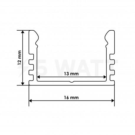 Профіль алюмінієвий анодований LED LP-12 - в інтернет-магазині