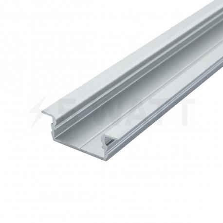 Профіль алюмінієвий LED BIOM врізний ЛПВ7 7х16, анодований (палка 2м), м - придбати