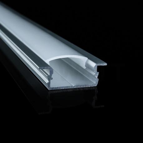 Профіль алюмінієвий LED BIOM врізний ЛПВ7 7х16, анодований (палка 2м), м - в Україні