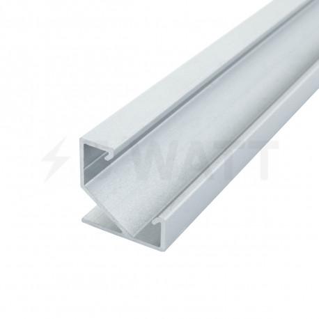 Профіль алюмінієвий LED DX кутовий ЛПУ17 17х17 анодований (палка 2м), м - придбати