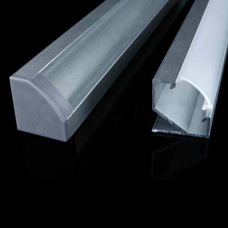 Профіль алюмінієвий LED DX кутовий ЛПУ17 17х17 анодований (палка 2м), м - недорого