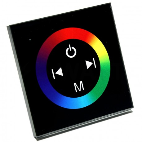 Контроллер RGB OEM 12A-Touch black встраиваемый