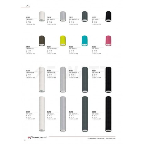 Точковий світильник NOWODVORSKI Eye White 5255 - магазин світлодіодної LED продукції