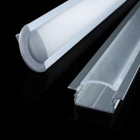Профиль алюминиевый LED BIOM врезной ЛПВ7 7х16, неанодированный (палка 2м), м - недорого