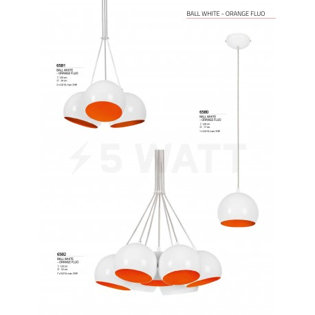 Люстра NOWODVORSKI Ball White-Orange Fluo 6581 - недорого