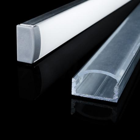 Профіль алюмінієвий LED DX7 7х16, неанодований (палка 2м), м - в Україні