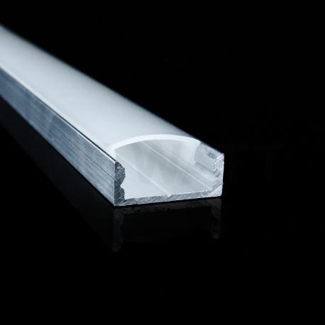 Профіль алюмінієвий LED DX7 7х16, неанодований (палка 2м), м - в інтернет-магазині