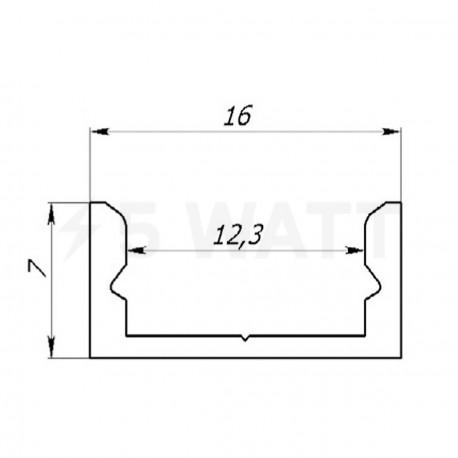 Профіль алюмінієвий анодований LED LP-7 - недорого