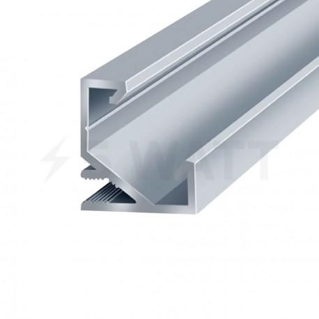 Профиль алюминиевый анодированный LED угловой LPU-17 - купить