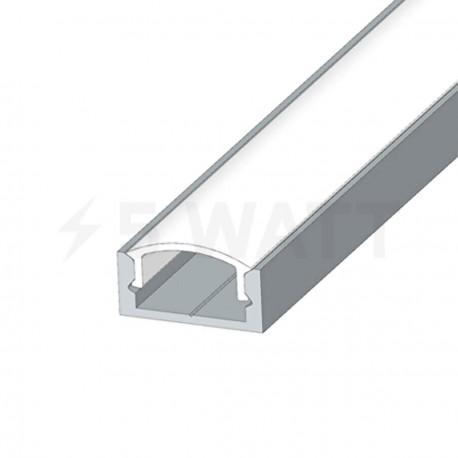 Профіль алюмінієвий LED DX7 7х16 (комплект профіль+лінза+заглушка 4шт.), 1м - недорого