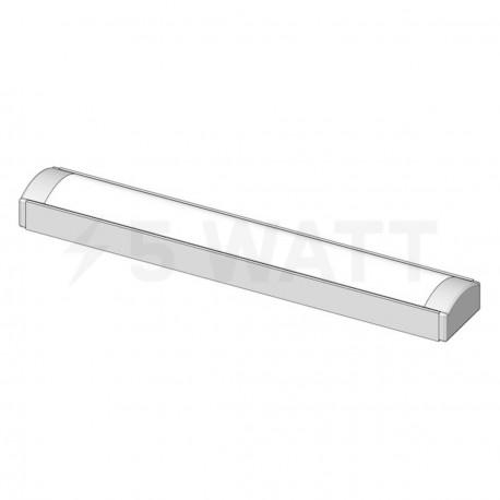 Профіль алюмінієвий LED DX7 7х16 (комплект профіль+лінза+заглушка 4шт.), 1м - в Україні