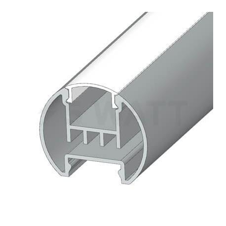 Профиль алюминиевый анодированный LED круглый LCK