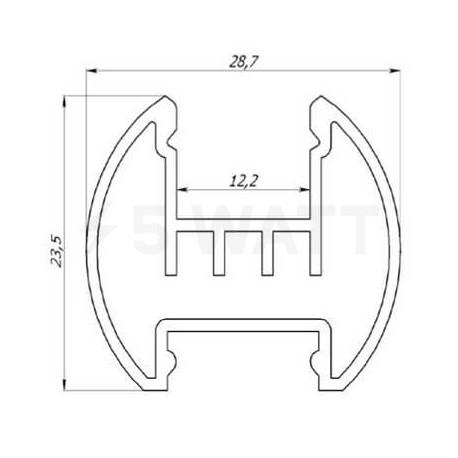 Профиль алюминиевый анодированный LED круглый LCK - в Украине