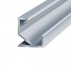 Профиль алюминиевый LED DX угловой ЛПУ17 17х17анодированный (палка 2м), м