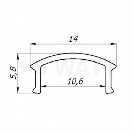 Розсіювач прозорий LRP для LED профіля, м - недорого
