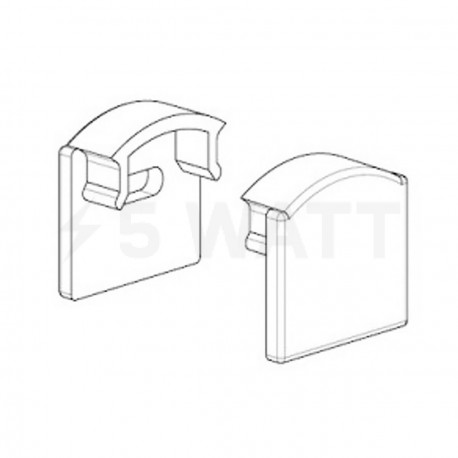 Заглушка ЗП17 для профиля ЛПC17 17х16мм