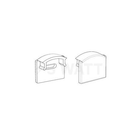 Заглушка ЗПО7 с отверстием для профиля ЛП7 7х16мм